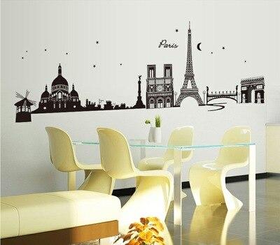 Задний план Эйфелева башня, гостиная спальня украшает пятого поколения охраны окружающей среды наклейки