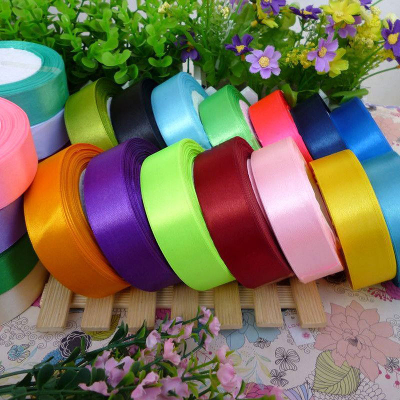 (25 yards/roll) 2'' (50mm) single face Satin Ribbon Webbing Decoration Gift Christmas Ribbons