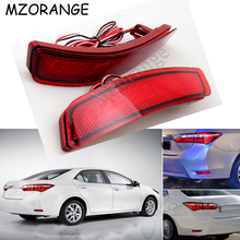 1Pair Car Tail Brake Lights For Toyota Corolla 2014 2015 2016 Rear Bumper Reflector Stop Light Car-styling LED Turn Signal