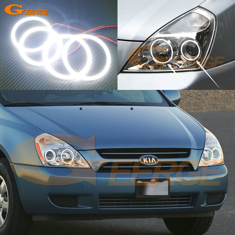 For Kia Sedona 2006 2007 2008 2009 2010 2011 2012 2013 2014 Excellent Ultra bright illumination smd led Angel Eyes kit for yamaha yzfr6 yzf r6 2006 2007 2008 2009 2010 2011 2012 2013 2014 motorcycle engine stator cover chrome left side