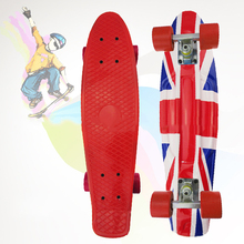 Free Shipping peny board printed mini skateboard skate scooter skateboarding board 4 wheel skates longboard truck skate CL 93
