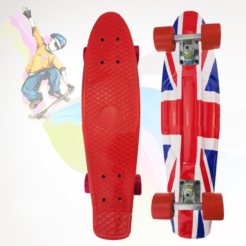 Livraison gratuite peny board imprimé mini planche à roulettes skate scooter planche à roulettes 4 roues patins longboard camion skate CL 93