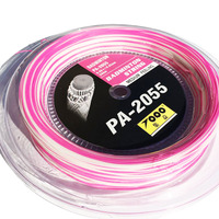 TOPO PA 66 PINK Badminton String PA 2055 badminton racket strings 0.7MM (200M/Reel) badminton string 200m string pinkstrings badminton -