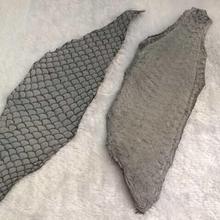 Натуральная рыбья кожа для обуви, серый цвет рыбий кожи FL-02