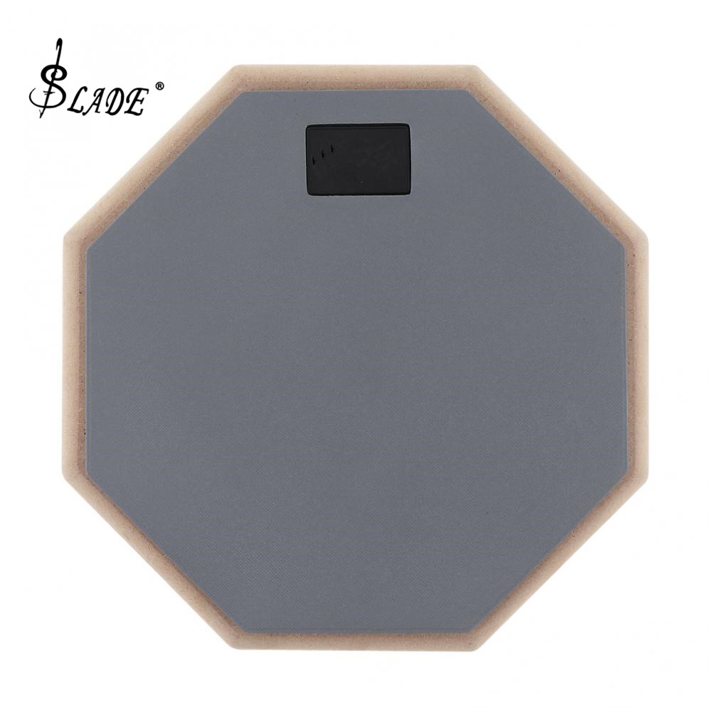 8 Inch Gray Rubber Wooden Dumb Drum Practice Training Drum Pad for Jazz Drums Exercise Musical