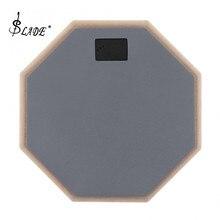8 дюймов серый резиновые деревянные немой барабан Практика Обучение барабан Pad для ударные инструменты для джаза упражнения музыкальный инструмент
