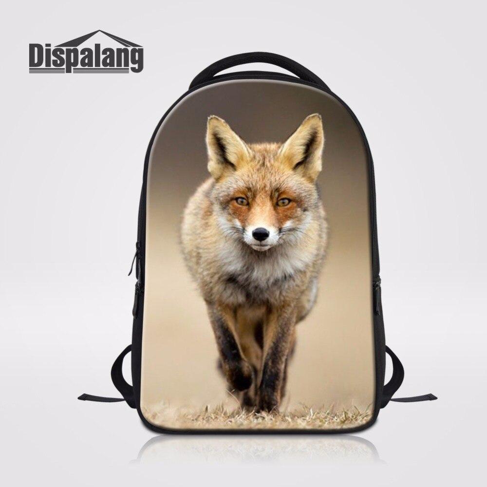 Dispalang Cute Fox Animal Pattern Children s School Laptop Backpack Women Backpacks For Teenager Girls Customized