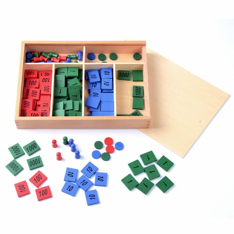 Jouet bébé Montessori jeu de timbre mathématiques pour l'éducation de la petite enfance formation préscolaire enfants jouets Brinquedos Juguetes pour les enfants