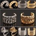 F&U 2015 Fashion Punky Style Hollow Cuff Retro Braid Gold Bangles For Women Charm vintage Multilayer Wide Bracelet#B422--B431
