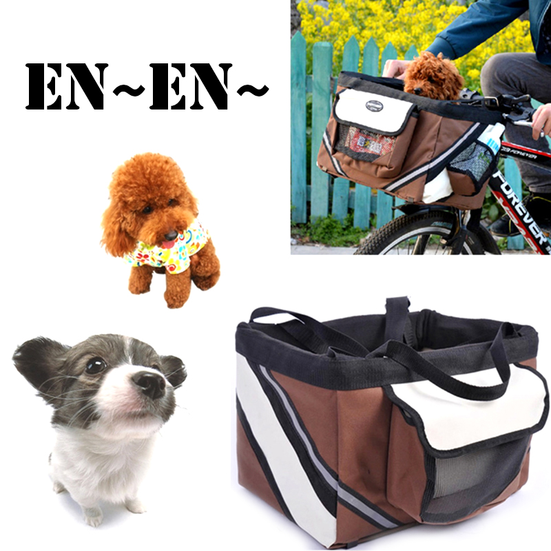 Catazer Pet Bicycle Basket Bicycle Compact Mountain Bike Nylon Dog Bag Cycle Cat Bags for Outdoor Cycling Gift цена