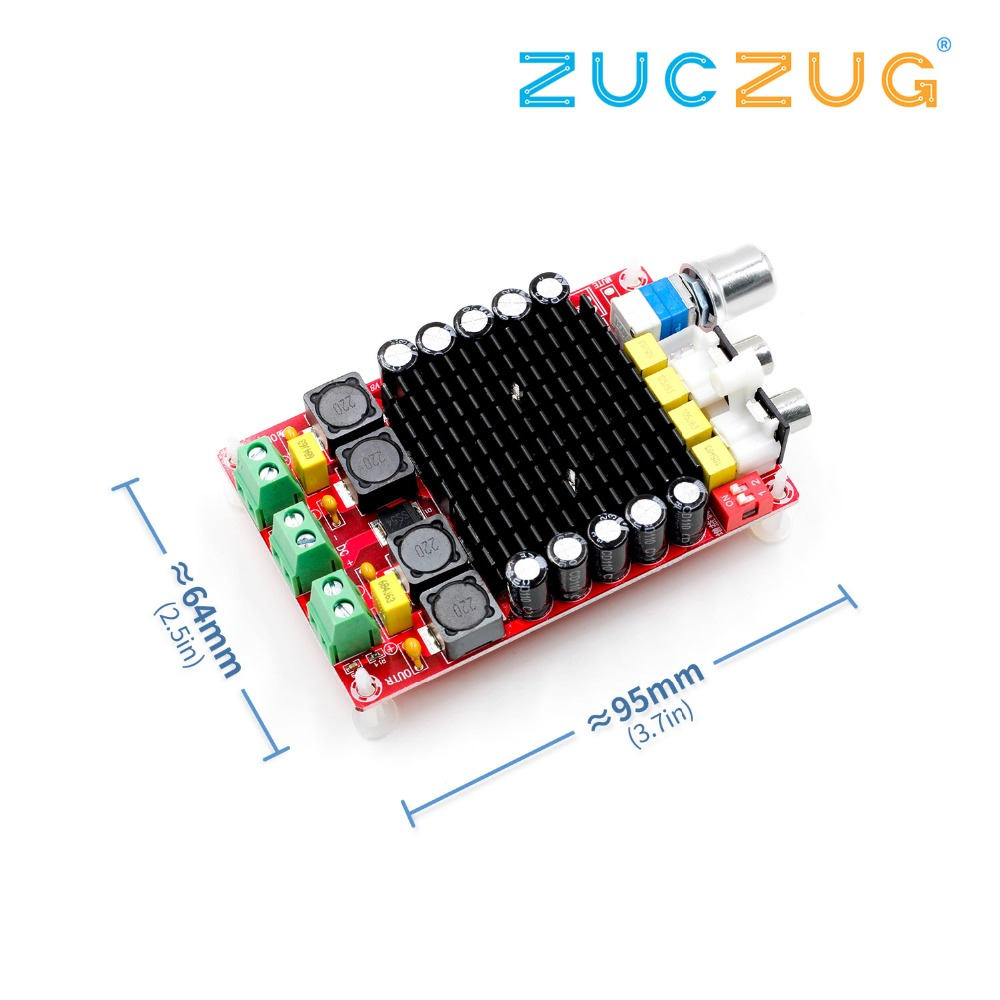 TDA7498 Class-D High power Digital amplifier board 2x 100w amplifiers amplificador audio DC 12V 24V