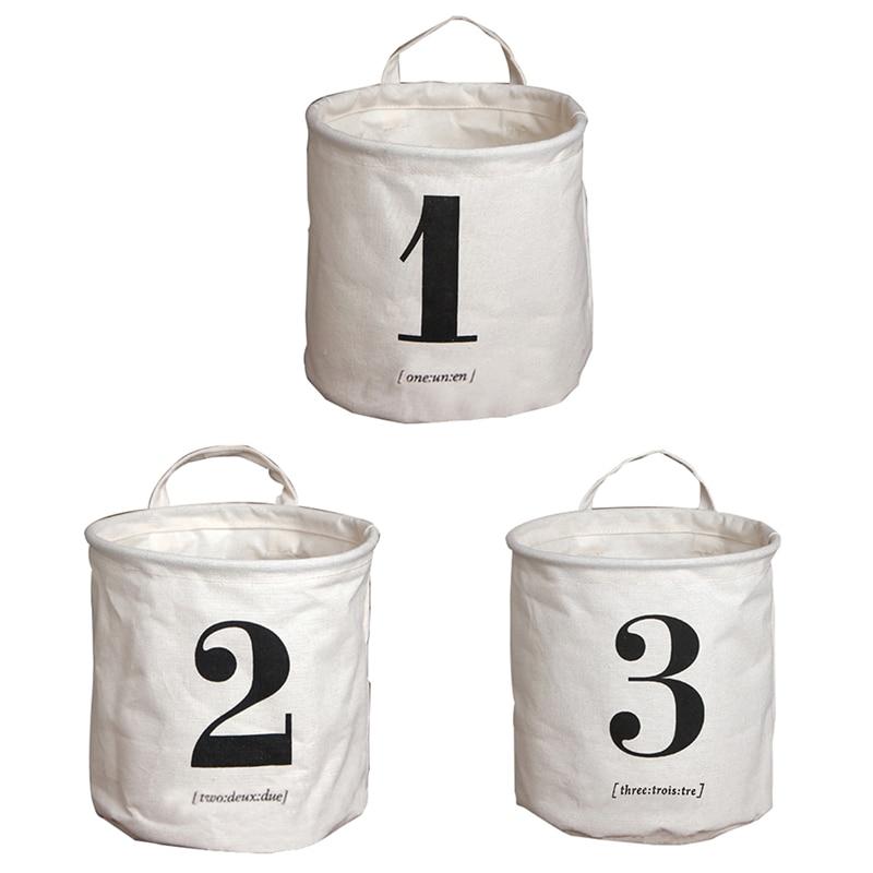20 * 19cm pesupesakott puuvillase pesu lapsed mänguasja - Kodu ladustamise ja organisatsiooni