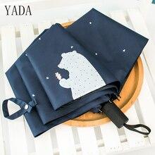 YADA Blue & White Creativity Cute Designer Bear Pattern Rain Women uv High Quality Umbrella For Womens Windproof Umbrellas YS052