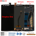 Oneplus One ЖК-дисплей + сенсорный экран с рамкой тест хороший дигитайзер стеклянная панель аксессуар замена для One plus One 64/16 GB