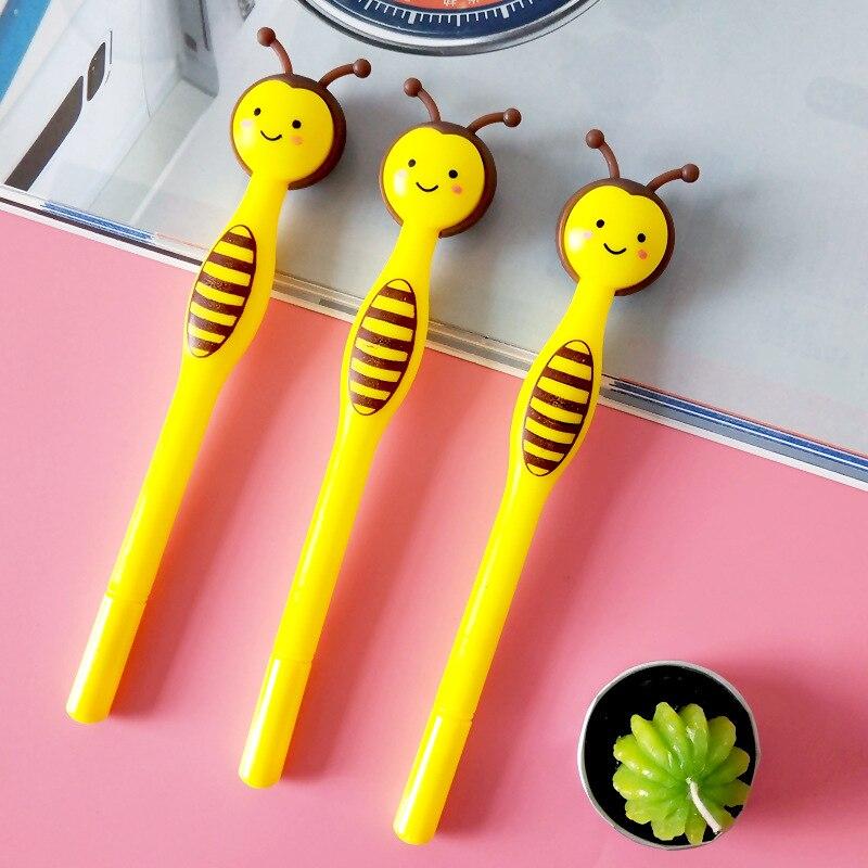 Image 4 - 50 sztuk Cartoon Little Bee długopis żelowy kreatywny śliczne biurowe uczeń czarny długopis prezenty dla dzieciDługopisy żelowe   -