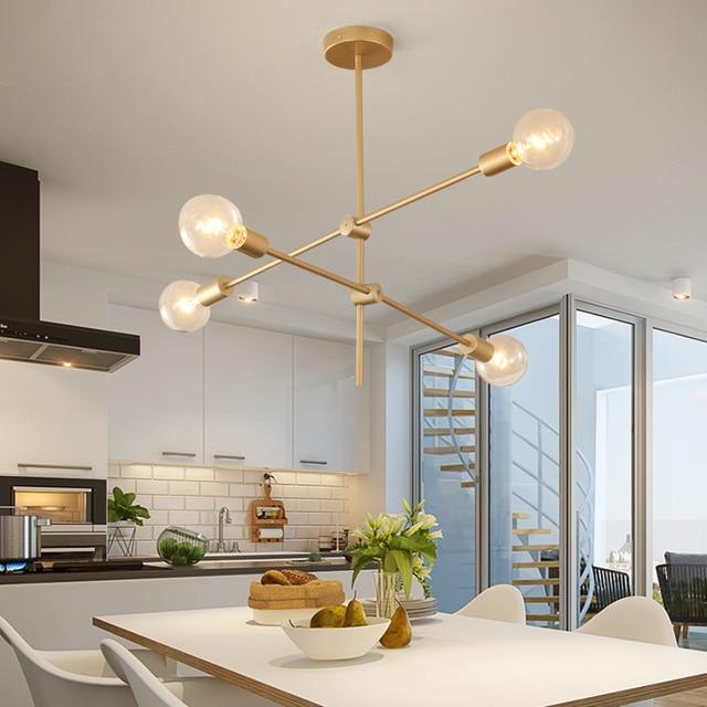 chandelier Modern Metal Sputnik Chandelier Ceiling Pendant Lighting Fixture Nordic Postmodern style Hanging Lamp