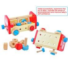 Kids Wooden Disassembling Tool Set Model Building Kits font b Construction b font Assemble font b
