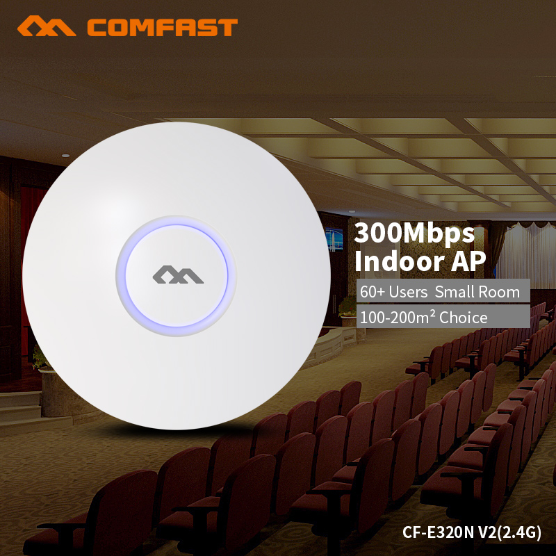 все цены на COMFAST 300Mbps Wireless Access Point Ceiling AP WIFI Router WIFI Repeater WIFI Extender Support OpenWRT With Poe Adapter онлайн