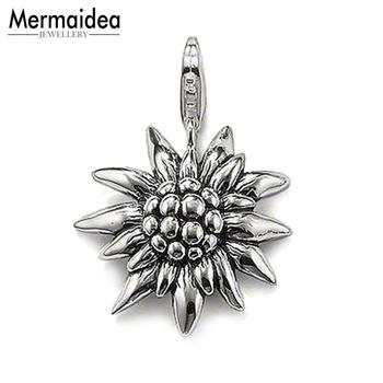 574e1f1921c5 Colgante Edelweiss 2019 nueva marca de joyería de oro puro de Color estilo  Bijoux collar accesorios