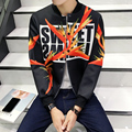 Осень Новый Мужской Бренд Одежды 3D Печати Куртка Моды Случайные Slim Fit bape Хороший Хип-Хоп Спортивной Моды Сращивания Куртки пальто