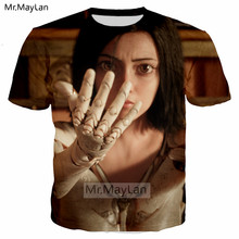 Alita: Battle Angel Printed 3D Mechanical Girl Tshirt Men/Women Harajuku Style Gothic Oneck T shirt Top Boy Cool T-shirt Clothes