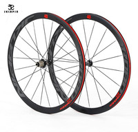 JKlapin 700C 4 sealed bearing wheelset super light aluminum alloy road bicycle wheels flat spokes racing 40mm rims