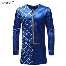 Мужская Африка одежда, стильное платье рубашки Дашики одежда