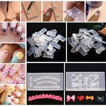 30 unids/set 3D acrílico plantilla para decoración de uñas juego de moldes de polvo acrílico flor molde de talla Stamper decoración placa de imagen de uñas
