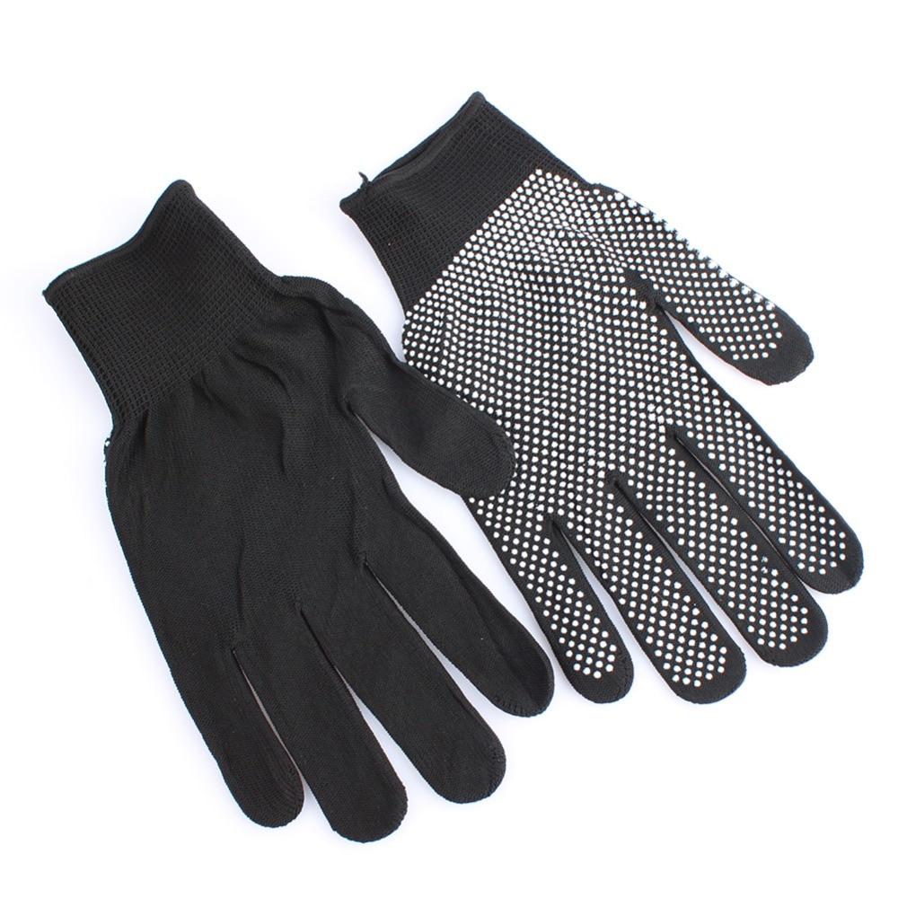 HOT Sale 1 Pair Hair Straightener Perm Curling Hairdressing Heat Resistant Finger Glove Black Grey Color #82683 3