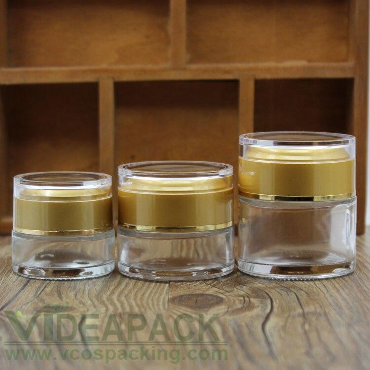 Frascos de cosméticos de 20g/30g/50g, frasco vacío/frasco de vidrio transparente para cremas/frasco de vidrio acrílico, envase de plástico, 50 Uds. Botella vacía con pulverizador de 50Ml, botella pulverizador de desinfección, se puede llenar con Perfume, desinfectante, Etc. Adecuado para viajes, limpieza, Disi