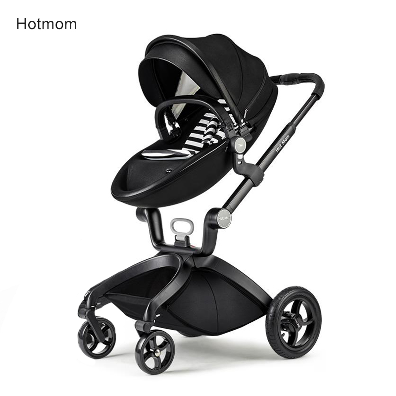 Hot Mom baby trolley  Can Sit and Lie High Landscape Portable Stroller hot mum stroller kds twin baby stroller high landscape two baby trolley hand double fold front and rear can lie luxury umbrella carts