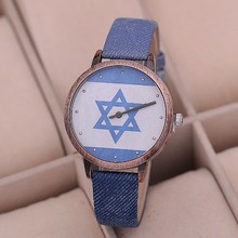 JW711 KEZZI Brand Popular relojes Fashion Star of David Retro Copper Surface Sports style Water resistant Women Watch(China)