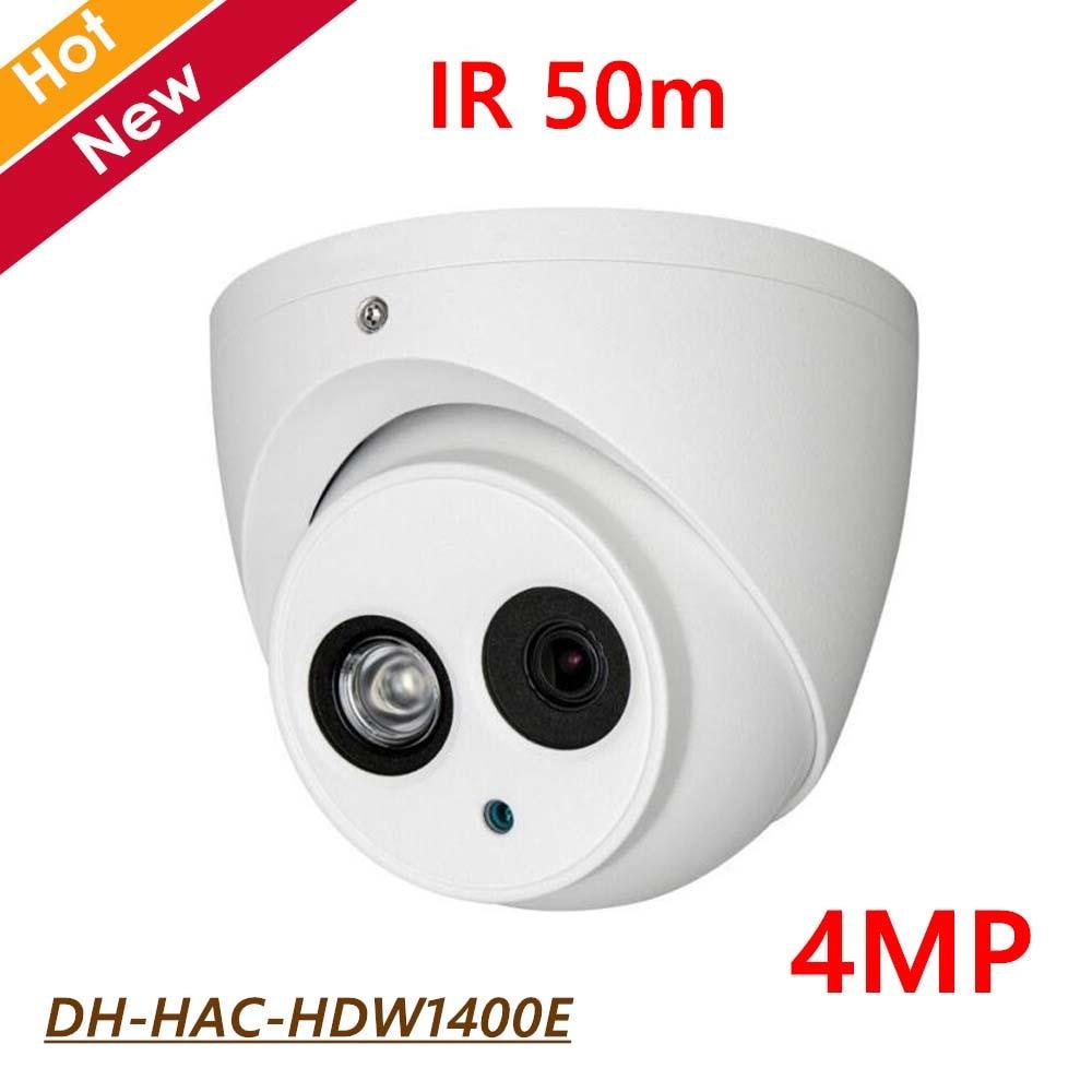 DH 4MP HDCVI Dome Camera HAC-HDW1400E IR 50m IP67 Outdoor Waterproof CCTV Camera DC12V Smart IR Free shipping led телевизор fusion fltv 42k11 r 42 full hd 1080p черный