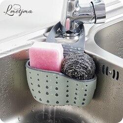 LMETJMA مفيدة شفط كأس بالوعة الجرف الصابون الإسفنج استنزاف رف المطبخ مصاصة تخزين أداة HMBI120802