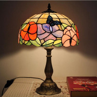 European Table Lights Creative Bedroom Bedside Study Room Living Room Cafe Bar Hotel Butterfly Glass Table Lamps