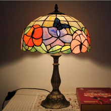 Tiffany European Table Lights Creative Bedroom Bedside Study Room Living  Room Cafe Bar Hotel Butterfly Glass Table Lamps