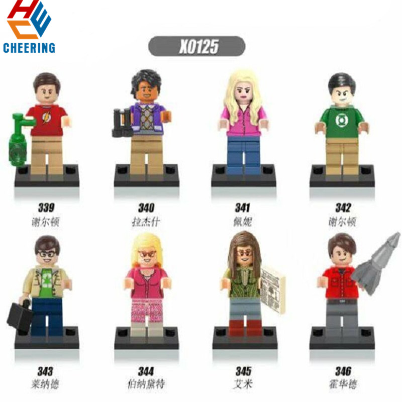 Single Sale Building Blocks The Big Bang Theory TBBT Sheldon Leonard Penny Howard Action  Figures Bricks Toys For Children X0125