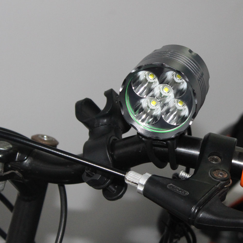 D6 5 *T6 LED Flashlight Cycling Bike Bicycle Light Head front Lights flash light 4 modes High Power flashlight Waterproof