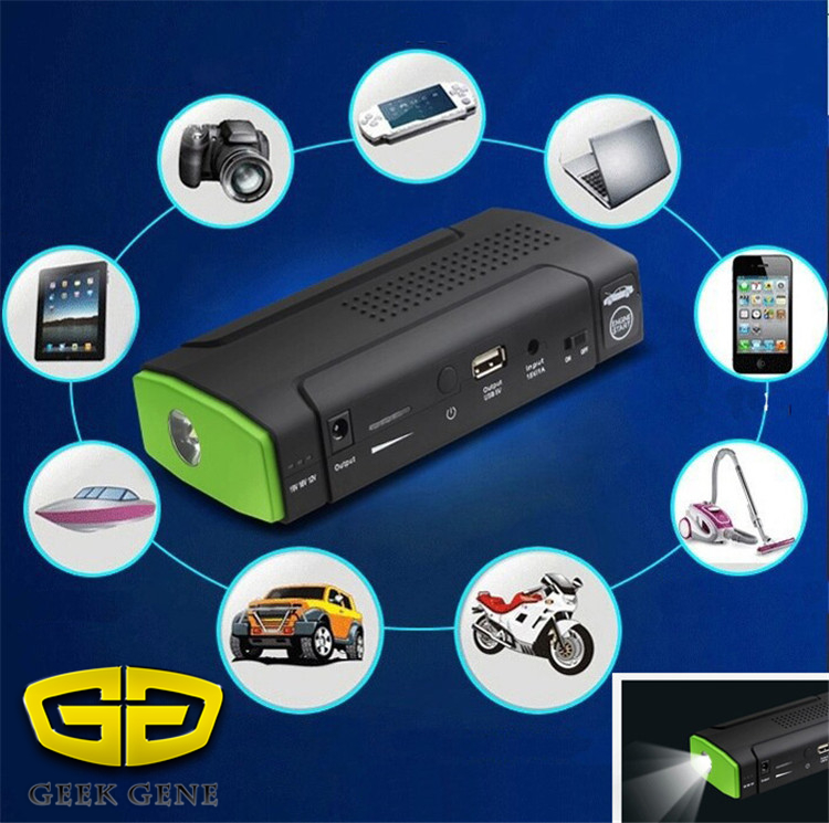 32000mAh 12V USB Car Charger Rechargeable Portable Multi Function Car Power Supply Jump Starter LED font