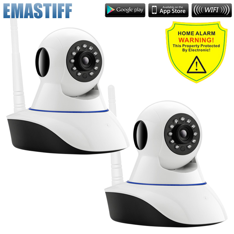 bilder für Kostenlose Shipping.2pcs/lot HD 720 P Nachtsicht Funktion Drahtlose APP Steuer Ip-kamera Pan Tilt Zwei-wege Audio Baby Monitor Kamera