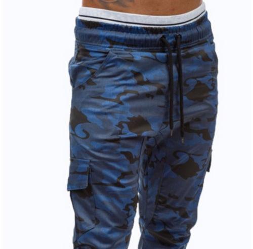 Fashion Mens Long Casual Loose Jogger Pants Military Drawstring Trousers