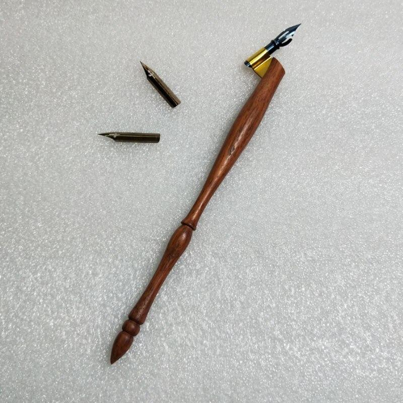 nova rosewood obliqua caligrafia suporte da pena pena do mergulho com 1 3 nibs dip pen