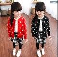 Бесплатная доставка новый хан издание досуг волна трикотажные детская ребенка кардиган куртки детская одежда