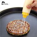 4-Hole Tipo Squeeze Garrafa Molho de Silicone Seguro Para Maionese Ketchup Jam Azeite