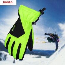 где купить Men's Ski Gloves PU Snowboard Gloves Snowmobile Motorcycle Cycling Winter Gloves Waterproof Warm Non-slip Unisex Snow Gloves по лучшей цене