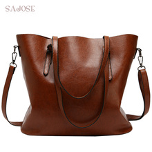 Bolsos de cuero de marca para mujer Bolso grande Casual bolsos tipo bandolera de poliuretano para mujer Bolsas femeninas saco marrón rojo