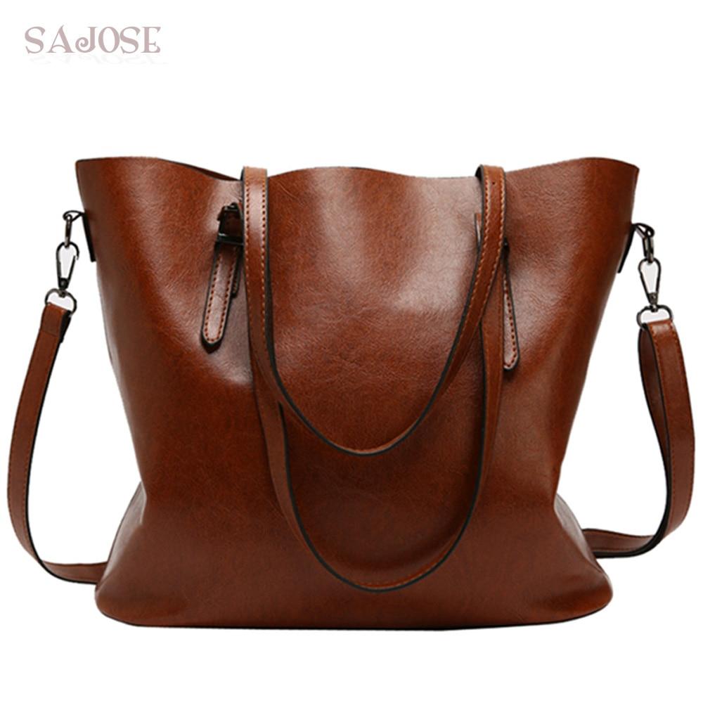 Brand Women Leather Handbags Lady Large Casual Tote Bag Female Pu Shoulder Bags Bolsas Femininas Sac A Main Brown Black Red