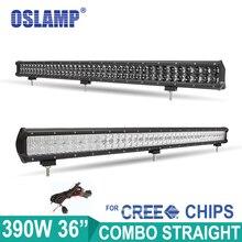 "Oslamp 390 W 36.5 ""4D/5D Recta de Luz LED Bar Offroad Combo Light Truck SUV ATV Coche de Luz Led 12 v 24 v Led 4X4 4WD Conducción luz"