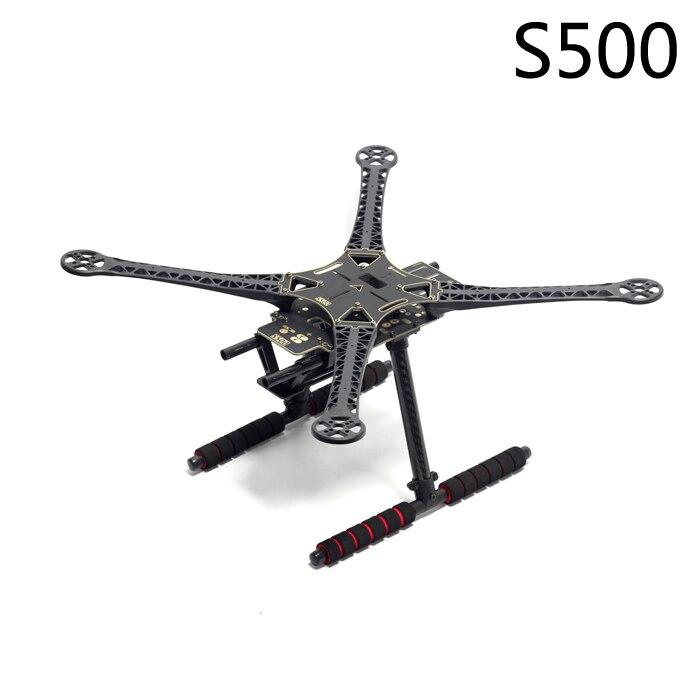 S500 500mm PCB Multi-Rotor Air Rahmen Kit W/Fahrwerk oder Versenkbare Skid für FPV Quadcopter SK500 Aktualisiert