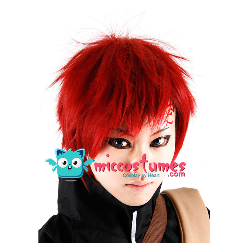 Synthetic Wig Naruto Shippuuden Gaara Cosplay Wig